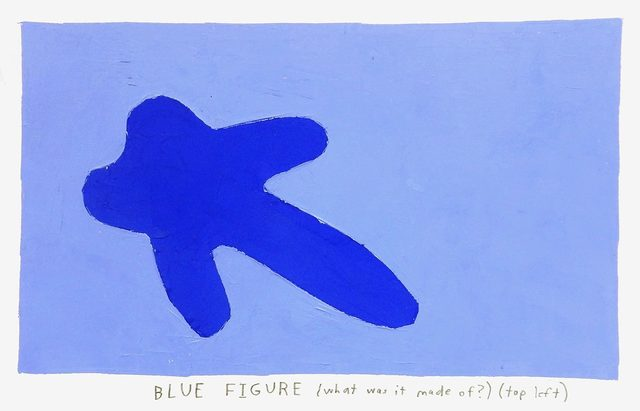 , 'blue figure,' 2017, Uprise Art
