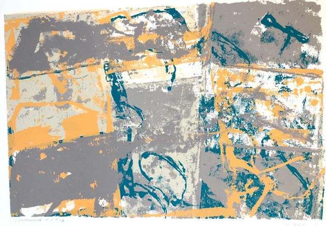 Walter Darby Bannard, 'Large Modern Miami Abstract Expressionist Screenprint Lithograph', 1980-1989, Lions Gallery