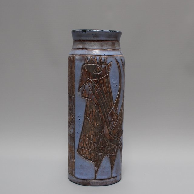 , 'Large Ceramic Vase with French Coq,' 1950-1959, Bureau of Interior Affairs