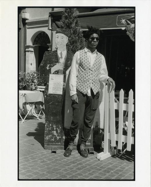 , 'Jean-Michel Basquiat, Les Plats du Jour, Standing Outside Cafe Paris, France, July 1985,' 1985, Gagosian