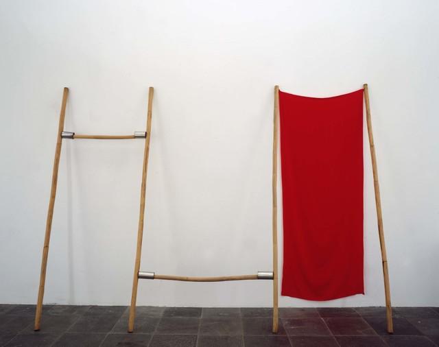 Robert Rauschenberg, 'Brim (Jammer)', 1976, Fabric, rattan poles, and tin cans, Robert Rauschenberg Foundation