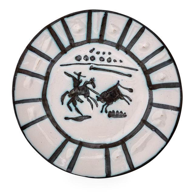 Pablo Picasso, 'Picador (A.R. 201)', 1953, Design/Decorative Art, Painted and partially glazed white ceramic plate, Doyle