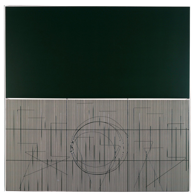 , 'Escritura oliva,' 2001, Perrotin