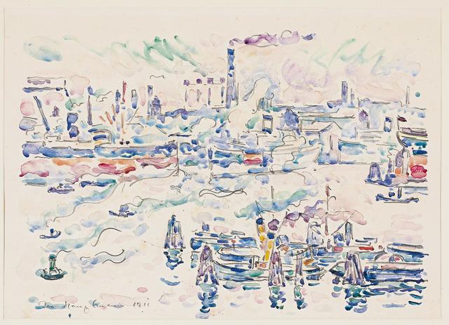 , 'Hamburger Hafen II,' 1911, Galerie Herold