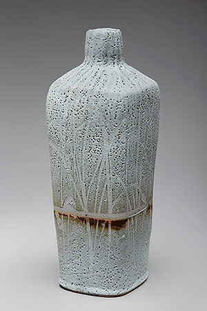 , 'Square vase, nuka glaze with wax resist brushwork,' , Pucker Gallery