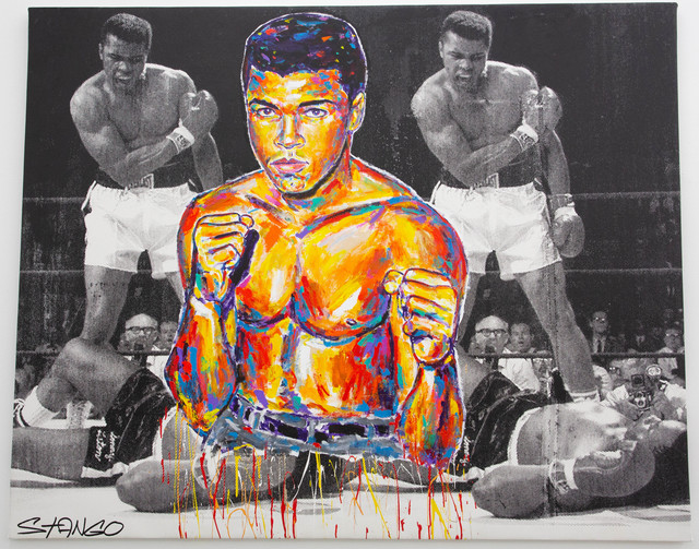 John Stango, 'Floating Ali over Ali Liston Fight', ca. 2018, The Compound Gallery