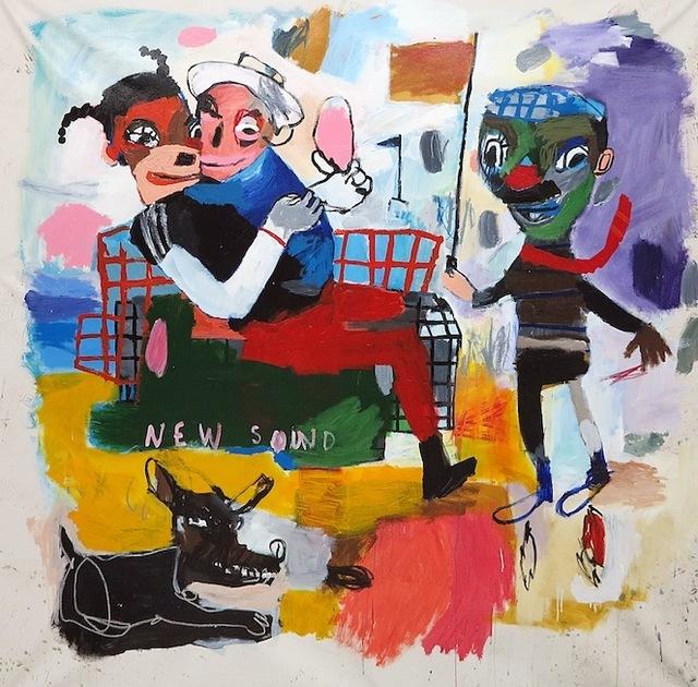 , 'Las banderas de nuevo sonido,' 2017, Galerie Heike Strelow