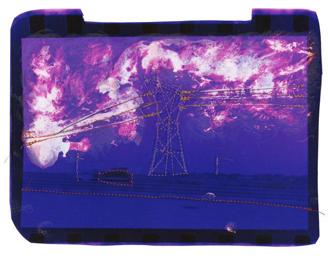 Andrew K. Thompson, 'Untitled (purple landscape with orange powerlines)', 2016, GALLERY 1/1