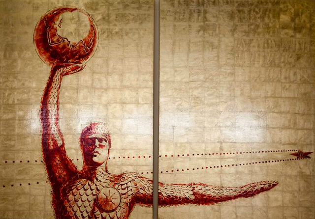 """Alexey Guintovt, '""""Man with a ball"""" dyptich', 2018, Krokin Gallery"""