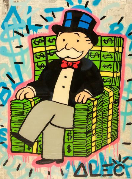 , 'Monopoly Sitting on Money Stacks Chair,' 2017, Eden Fine Art