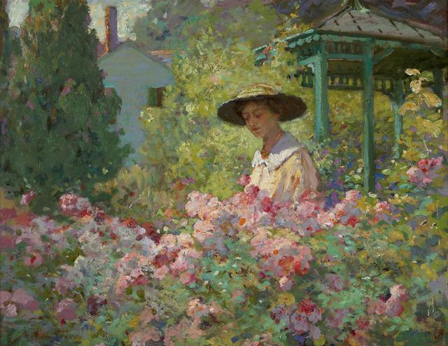 , 'In the Garden,' ca. 1910s, Debra Force Fine Art