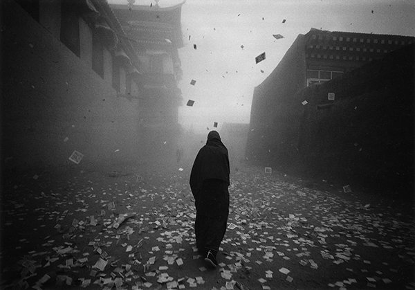 Zhong Guohua, ' The monk in the wind', 2011, Photography, Silver print, Nine Art Space