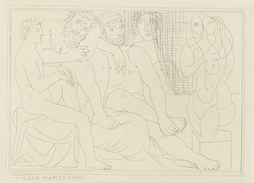 Sculpteurs, modèles et sculpture (B. 149; Ba. 301)