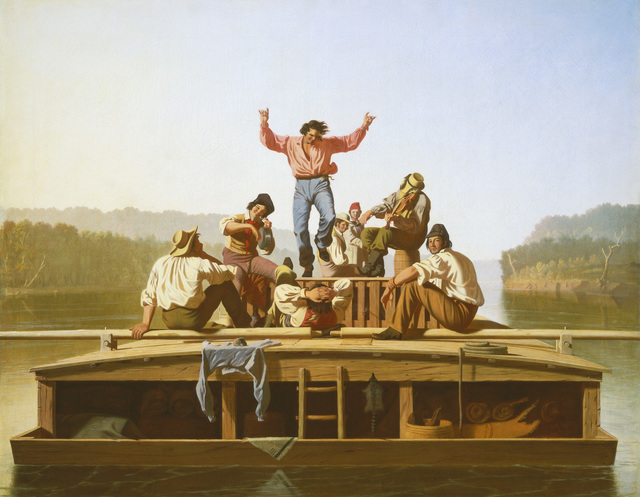 , 'The Jolly Flatboatmen,' 1846, Crystal Bridges Museum of American Art