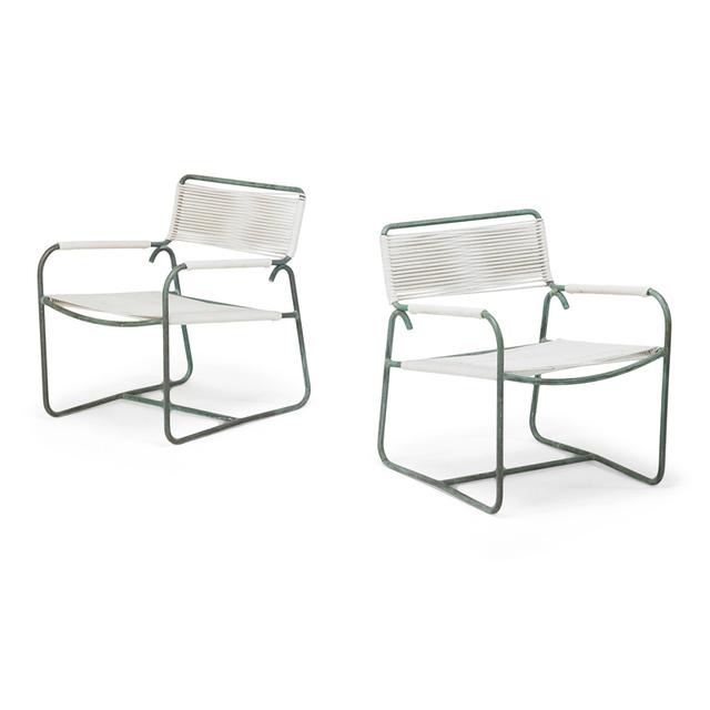 Walter Lamb, 'Pair of Lounge Chairs (No. C5700), USA', 1950s, Rago/Wright
