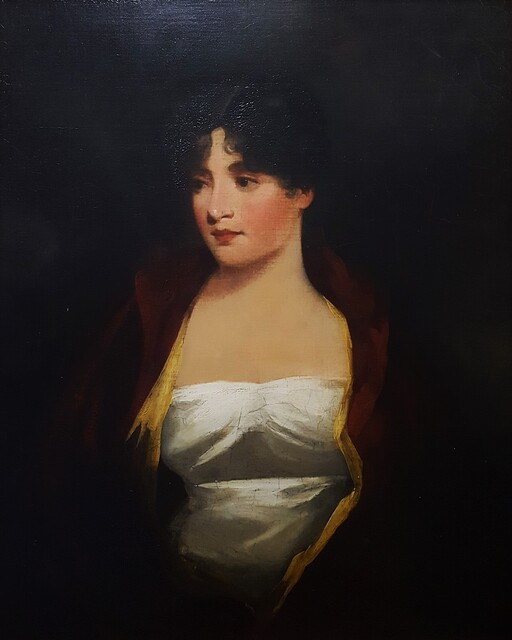 Sir Henry Raeburn, 'Portrait of a Lady in red jacket and white gown (half-length)', ca. 1820, Painting, Oil Painting on Canvas, Graves International Art