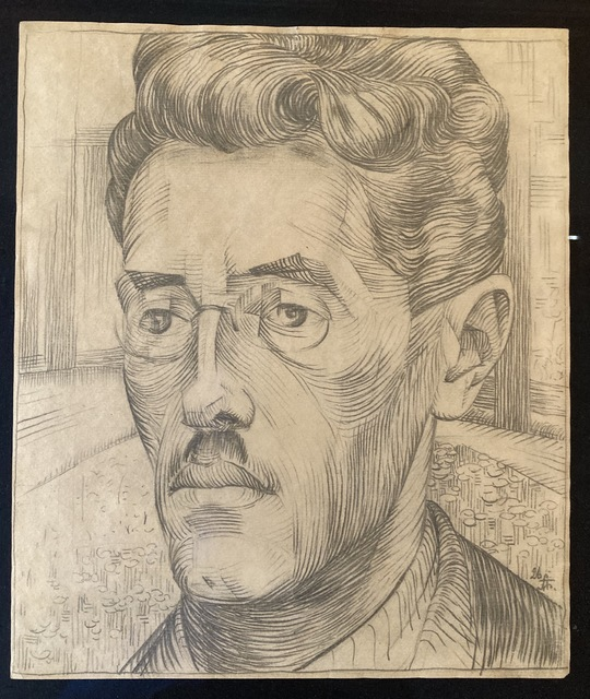 Alexander Bogomazov, 'Portrait of the artist's brother-in-law, Sergei Rudich', 1926, Drawing, Collage or other Work on Paper, Pencil on paper, Artsy x Rago/Wright