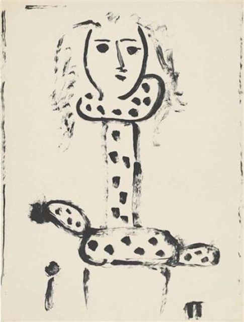 Pablo Picasso, 'Femme au Fauteuil', 1948, Print, Lithograph, F.L. Braswell Fine Art