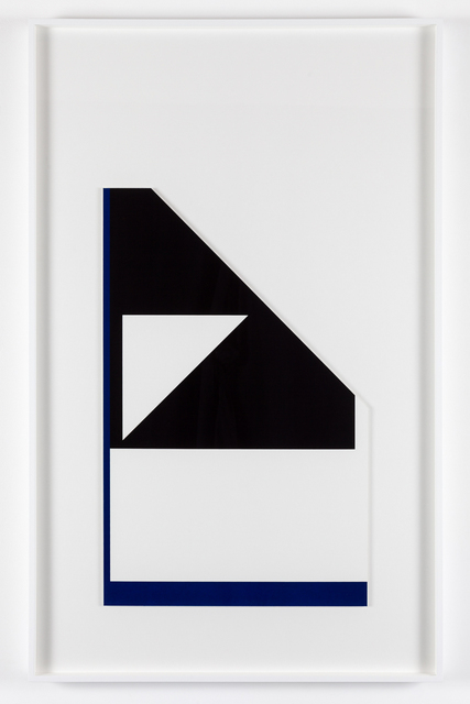 , ''Diagonal reflex edge' (from the 'metalanguage' series) ,' 1980-2015, Paul Stolper Gallery