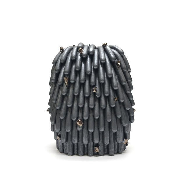 Linda Lopez, 'Asphalt Dust Furry with Gold Rocks #2,', 2019, David B. Smith Gallery