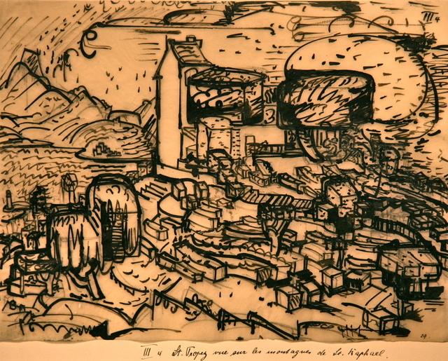 , 'St Tropez rue sure la Montagnes de St. Raphael,' 1928, Crane Kalman Gallery