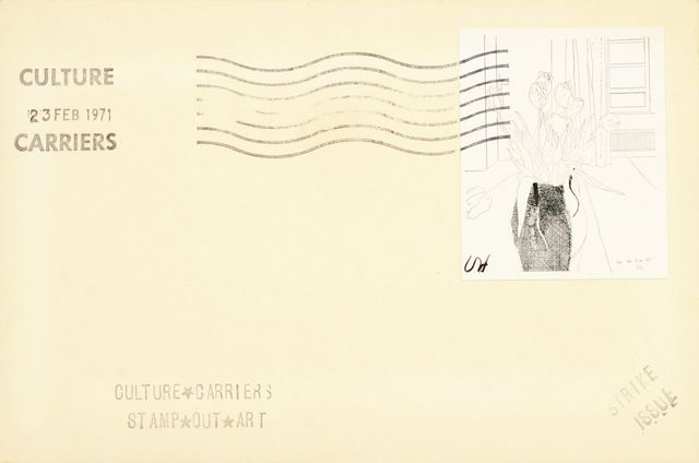 David Hockney, 'Tulips, from Culture Carriers Stamp Out Art', 1971, Roseberys