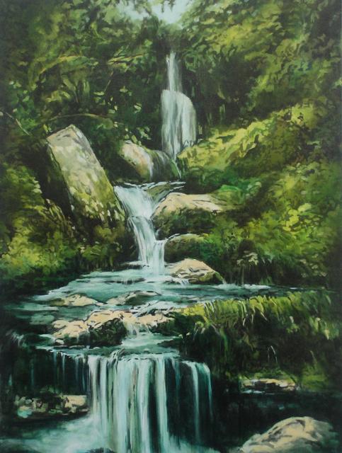 Annette Pugh, 'Moorland Waterfall ', 2019, Reuben Colley Fine Art