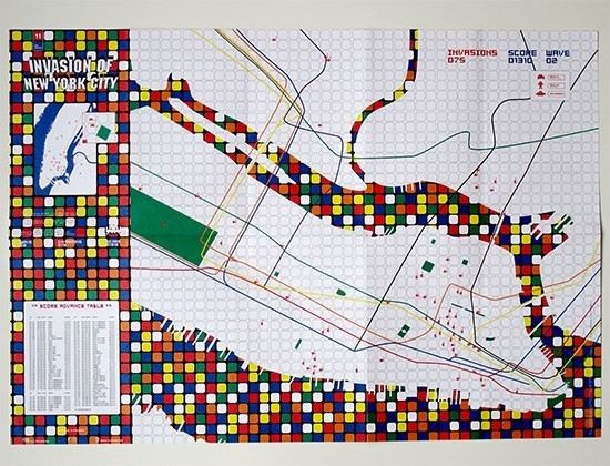 Map Of New York For Sale.Invader Invasion Of New York City Map 2003 Available For Sale Artsy