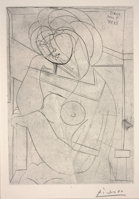 Pablo Picasso, 'Seated Nude, Her Head Leaning on Her Hand from Vollard Suite', 1934, Dallas Museum of Art