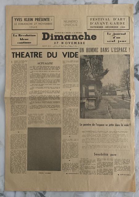 Yves Klein, 'Dimanche', 1960, Artificial Gallery