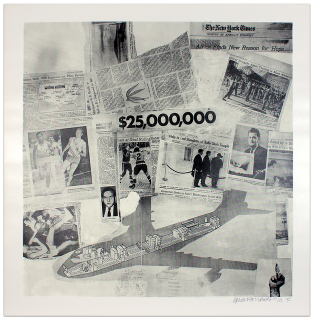Robert Rauschenberg, 'Features from Currents #63', 1970, Krakow Witkin Gallery