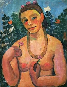 Paula Modersohn-Becker, 'Self-Portrait with an Amber Necklace', 1906, Art History 101