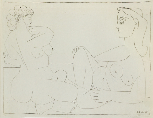 , 'Deux Femmes sur la Plage,' 1956, Sims Reed Gallery