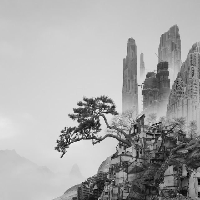 , '太古蜃市 - 崖松 Time Immemorial - Old Pine,' 2016, Matthew Liu Fine Arts