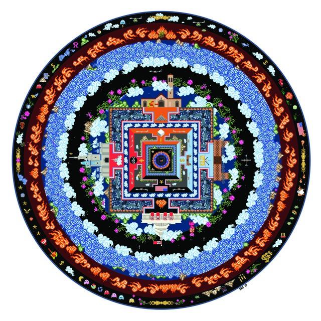 , '8bit Mandala (#35),' 2017, Avenue 12 Gallery