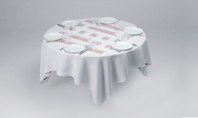 , 'Unique Tablecloth with Laser-Cut Lace (Object to Be Situated on Table), For Parkett 66,' 2002, Parkett