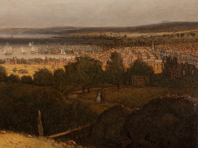 Robert Salmon, 'Greenock, Scotland (Views of the Clyde from Finnart)', 1839, Painting, Oil on wood panel, Vose Galleries
