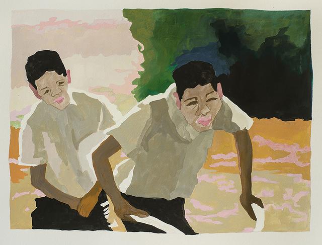 , 'Half Brothers (study),' 2018, Jonathan Ferrara Gallery