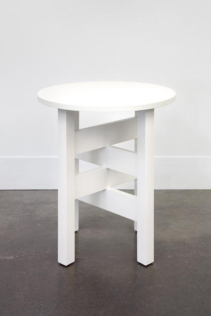 , 'A White Lamp Table I Just Made for Chris,' 2011/2014, Domestic Furniture