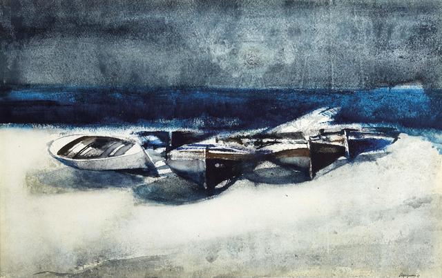 Lorenzo Vespignani, 'Boats', executed in 1963, Pandolfini