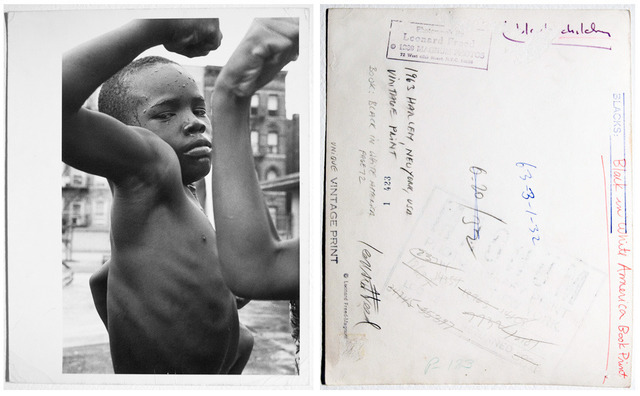 Leonard Freed, 'Boys in a swimming pool on the roof of a school building in Harlem, NY, pl 72 and cover', 1963, Clark Gallery