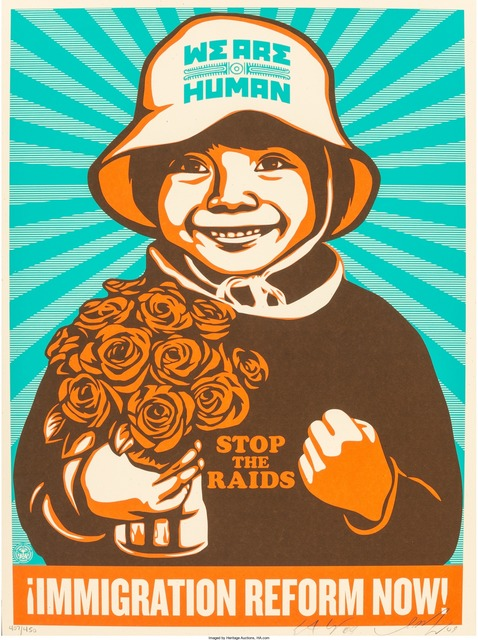 Shepard Fairey (OBEY), '¡Immigration Reform Now!', 2009, Heritage Auctions