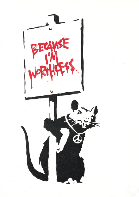 Banksy, 'Because I'm Worthless (Red)', 2004, Tate Ward Auctions