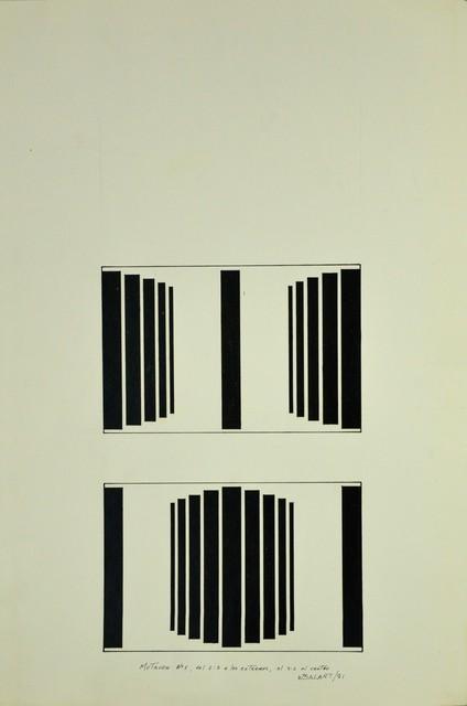 , 'Mutación #1, del 2:2 a los extremos, al 2:2 al centro,' 1981, Henrique Faria Fine Art