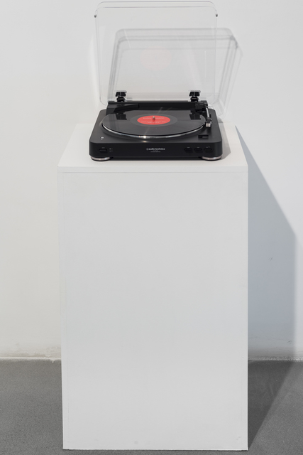 Zoulikha Bouabdellah, 'Habibi by Oum Kelthoum', 2016, Installation, Sound installation. Long Play vynil, LP player, bluetooth speaker and plinth, Sabrina Amrani