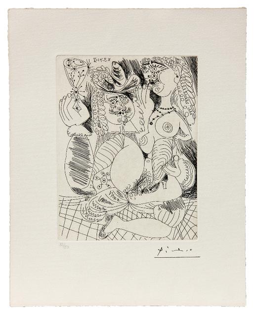 Pablo Picasso, 'Uomo che tiene un bicchiere in compagnia di una nuda amante', 1971, Ambrosiana Casa d'Aste