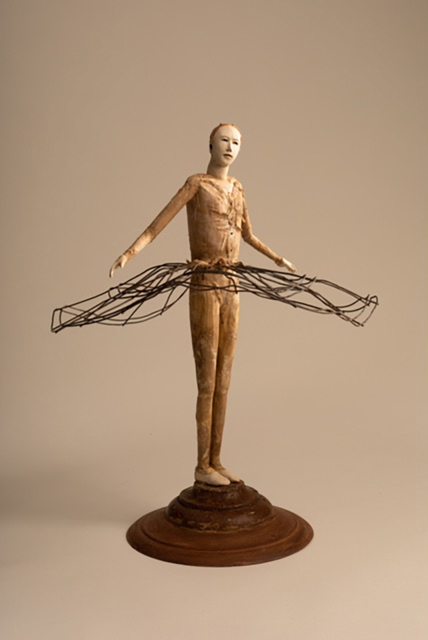 Cathy Rose, 'Tiny Dancer', 2019, Sculpture, Hand formed clay, altered wood, fiber and found objects, Sue Greenwood Fine Art