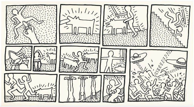 Keith Haring, 'Untitled (Blueprint Drawings No.1)', 1990, Rhodes