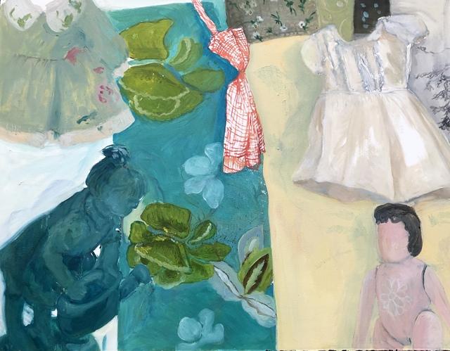 , 'Green Dress, White Dress,' 2018, Imlay Gallery