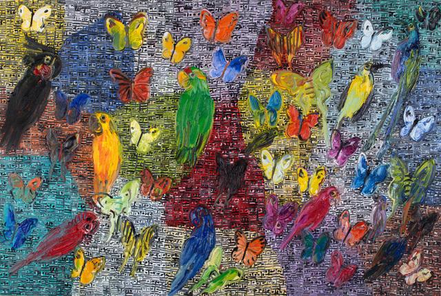 Hunt Slonem, '5th Dimension', 2016, Painting, Oil on canvas, Rosenbaum Contemporary